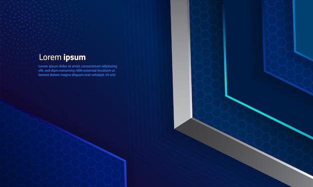 Abstrakcyjny kształt geometryczny sześciokątne tło