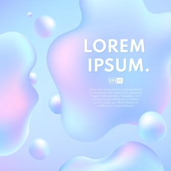 Abstrakcyjny kształt koloru hologramu płynnego z miejsca na kopię.
