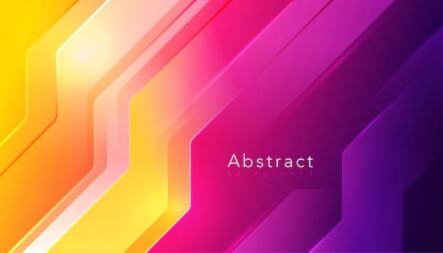 Abstrakcyjny kształt z gradientowym tłem