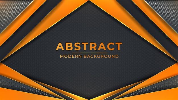 Abstrakcyjny nowoczesny z gradientowym kreatywnym kształtem, futurystycznymi świecącymi liniami i świecącym efektem
