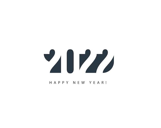 Abstrakcyjny numer na szczęśliwego nowego roku okładka karty z pozdrowieniami kreatywny nagłówek kalendarza eleganckie logo nowość