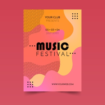 Abstrakcyjny płynny plakat muzyczny