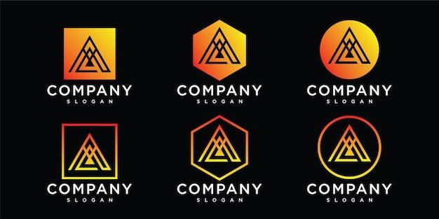 Abstrakcyjny początkowy list szablon logo logo