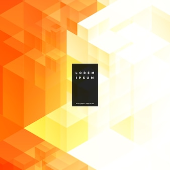 Abstrakcyjny pomarańczowy trójkąt geometryczny wzór tła