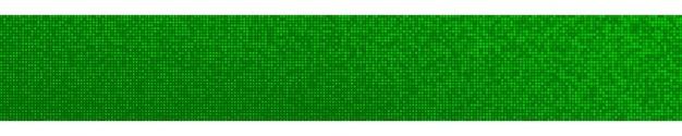Abstrakcyjny poziomy baner z gradientem półtonów w losowych odcieniach zieleni