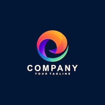 Abstrakcyjny projekt logo gradientowego koła