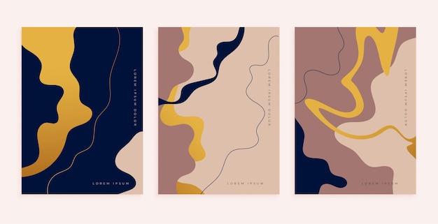 Abstrakcyjny projekt plakatu do dekoracji ścian w minimalistycznym stylu