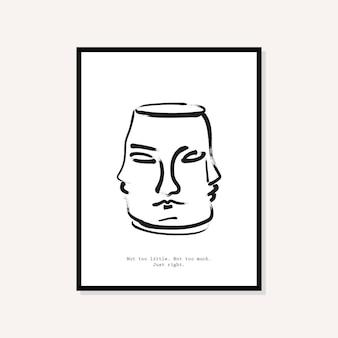 Abstrakcyjny projekt plakatu w stylu boho