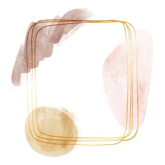 Abstrakcyjny projekt ramki akwarela