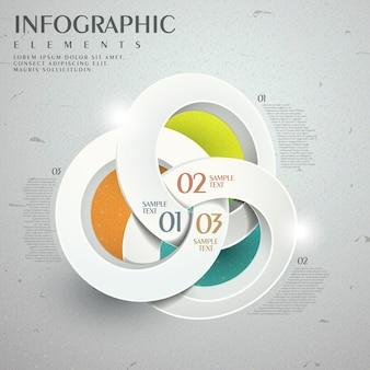 Abstrakcyjny projekt szablonu infografiki z elementami pierścieni