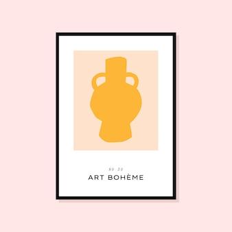 Abstrakcyjny, ręcznie rysowany plakat idealny do kolekcji obrazów ściennych!