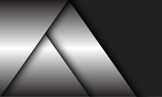 Abstrakcyjny srebrny geometryczny nakładający się cień z szarym nowoczesnym luksusowym tłem