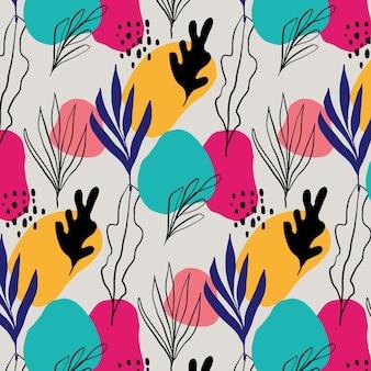 Abstrakcyjny styl pozostawia kolorowy wzór