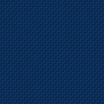 Abstrakcyjny sweter z dzianiny wzór bezszwowa dzianinowa tekstura z odcieniami kolorów niebieskich