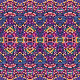 Abstrakcyjny świąteczny kolorowy etniczny plemienny czeski wzór bez szwu nomadyczny geometryczny