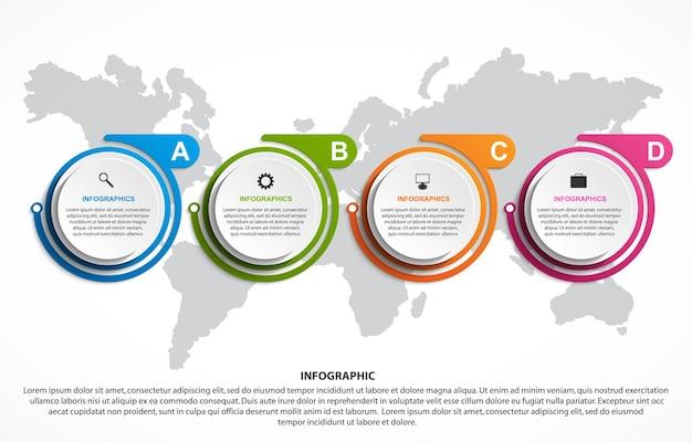 Abstrakcyjny szablon infografiki opcji