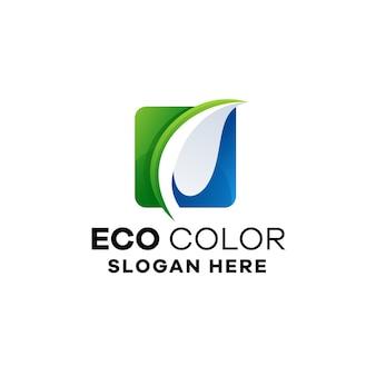 Abstrakcyjny szablon logo gradientu ekologii
