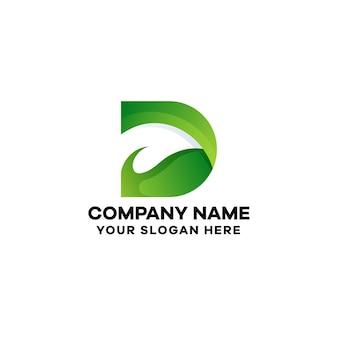 Abstrakcyjny szablon logo gradientu litery d