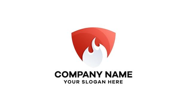 Abstrakcyjny szablon logo gradientu ognia