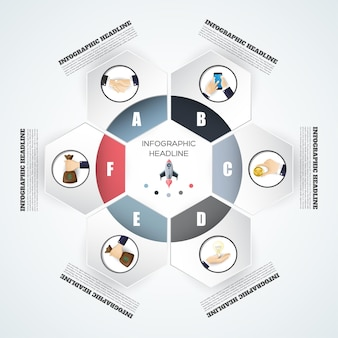 Abstrakcyjny szablon opcji infografiki ilustracja wektorowa może być używany do układu przepływu pracy