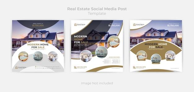Abstrakcyjny szablon postu w mediach społecznościowych i baner internetowy z wariacją kolorów