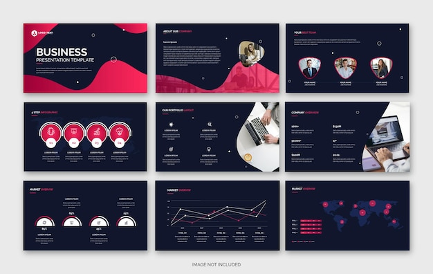 Abstrakcyjny szablon prezentacji biznesowej powerpoint lub szablon profilu firmy