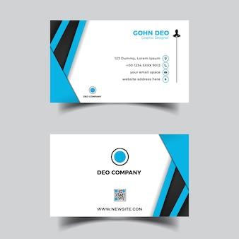 Abstrakcyjny szablon projektu niebieskiej fali wizytówki
