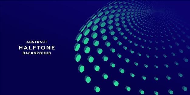 Abstrakcyjny szablon projektu tła kuli w stylu technologii półtonów