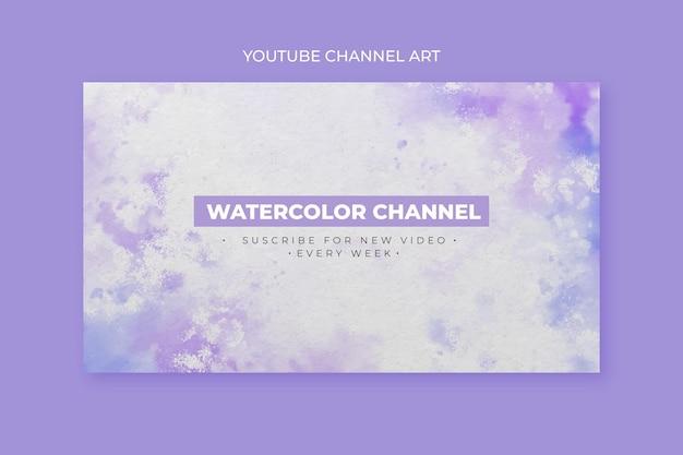 Abstrakcyjny szablon sztuki akwarela kanału youtube
