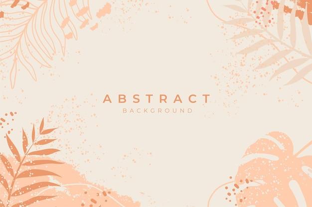 Abstrakcyjny szablon tła wektortropikalny letni banerprojekt okładki z botanicznych liści palmowych