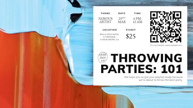 Abstrakcyjny wektor szablonu, reklama wydarzenia na baner na blogu