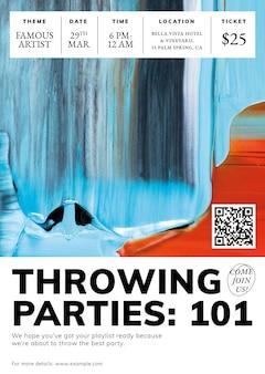 Abstrakcyjny wektor szablonu, reklama wydarzenia na plakat