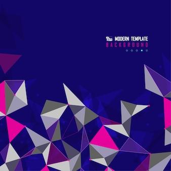 Abstrakcyjny wielokolorowy projekt trójkątów tech futurystyczna okładka