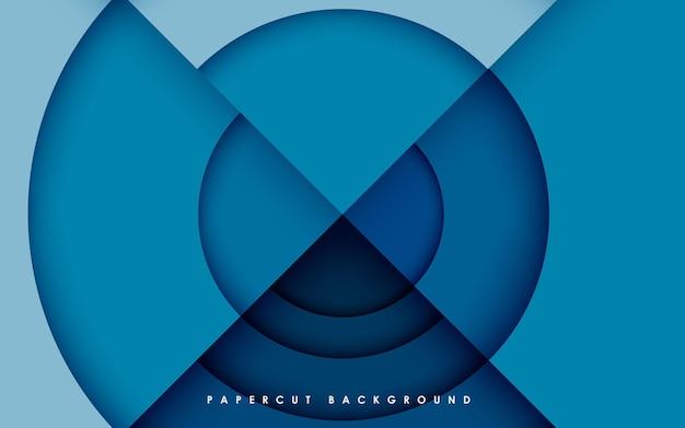 Abstrakcyjny wymiar tła niebieskiego koła w kształcie warstw