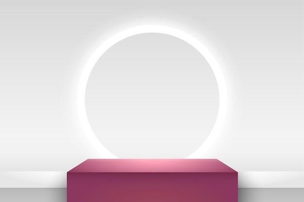 Abstrakcyjny wyświetlacz kostki do prezentacji produktu