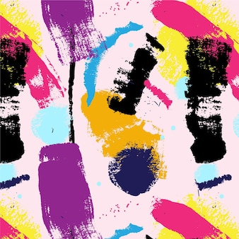 Abstrakcyjny wzór farby obrysu pędzla