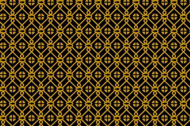 Abstrakcyjny wzór geometryczny bez szwu. chińskie okno i kwadratowy element w kolorach złotym i czarnym