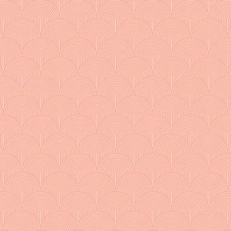 Abstrakcyjny wzór geometryczny z okrągłymi cienkimi liniami prostymi stylowa tekstura w minimalistycznym bezszwowym białym kolorze pomarańczowym