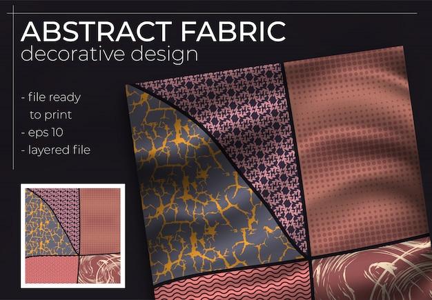 Abstrakcyjny wzór jedwabnego szalika w kwadracie do nadruku hidżabu, jedwabnego szalika na szyi lub chustki
