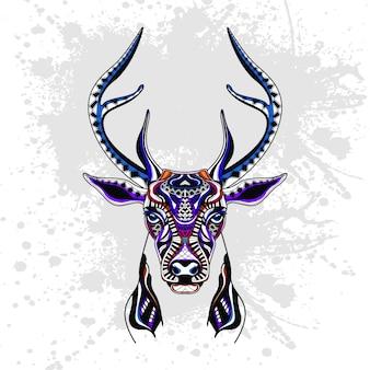Abstrakcyjny wzór jelenia