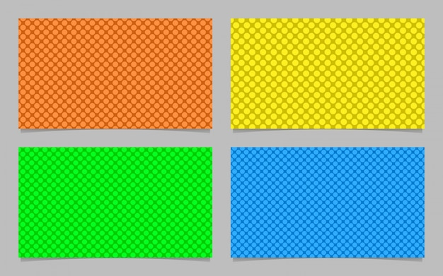 Abstrakcyjny wzór kropek wizytówka szablonu t? a projektowania zestaw - wektor id karty graficznej