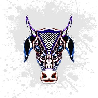 Abstrakcyjny wzór krowy