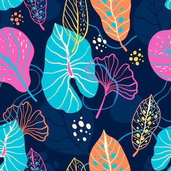 Abstrakcyjny wzór liści