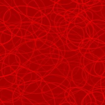 Abstrakcyjny wzór losowo ułożonych konturów elips w czerwonych kolorach