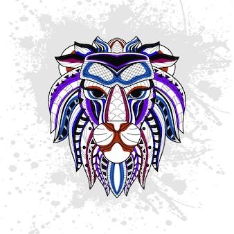 Abstrakcyjny wzór lwa