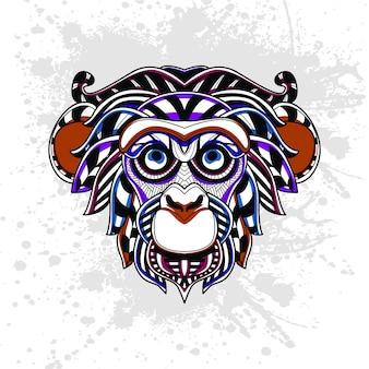 Abstrakcyjny wzór małpy