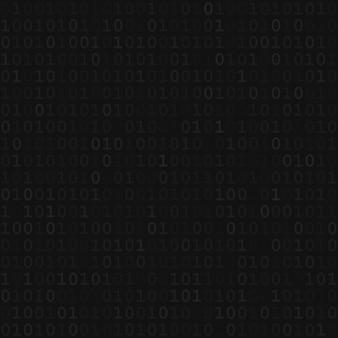 Abstrakcyjny wzór małych cyfr jeden i zero w czarnych kolorach