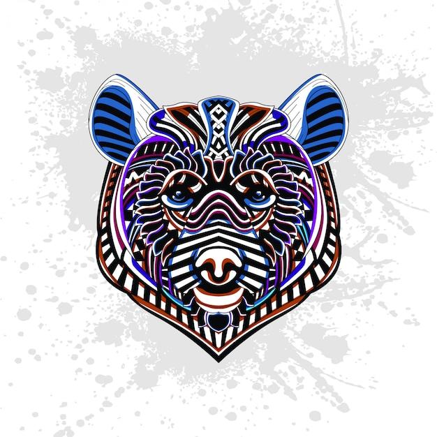 Abstrakcyjny wzór niedźwiedzia
