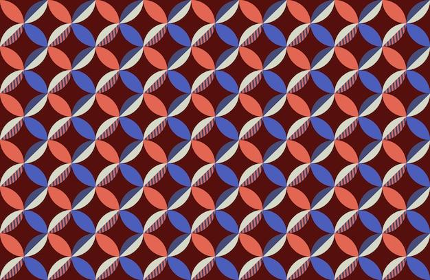 Abstrakcyjny wzór okręgów złożony z kształtów geometrycznych.