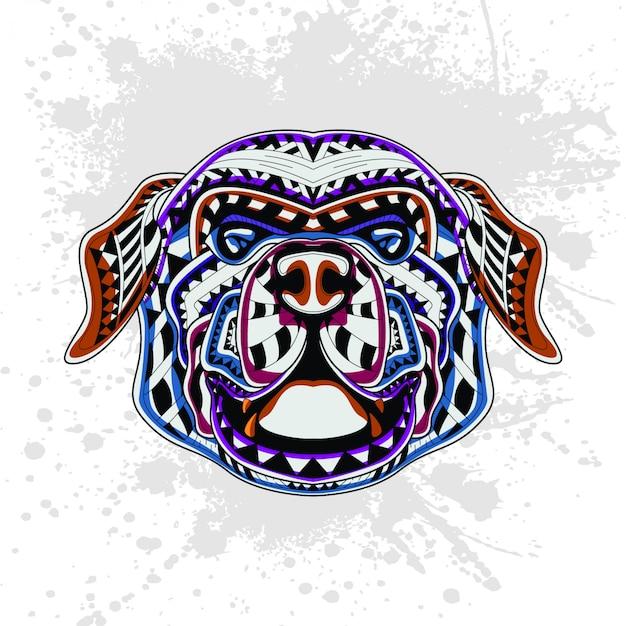Abstrakcyjny wzór psa